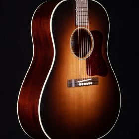 Dark Brown Ombre Guitar With Cherry Pick Guard & Indian Rosewood Body