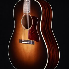 Dark Brown Ombre Guitar Body With Cherry Redwood Body & White Outline