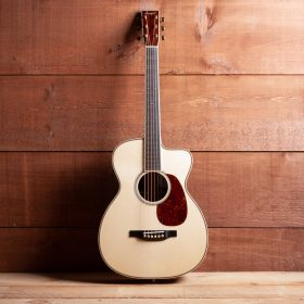 Blonde Guitar With Cherry Pick Guard & Head