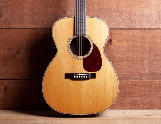 White Cedar Guitar with Cherry Pick Guard