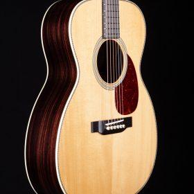 White Cedar Guitar with Cherry Pick Guard & Body With Dark Stripes