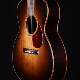 Brown Black Ombre Guitar Body With Cherry Pick Guard