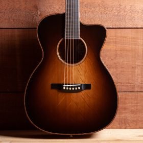 Dark Brown Ombre Guitar Body