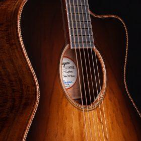 Dark Brown Guitar with KOA Body