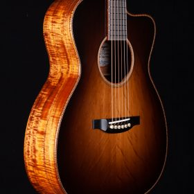 Dark Brown Ombre Guitar With KOA Body
