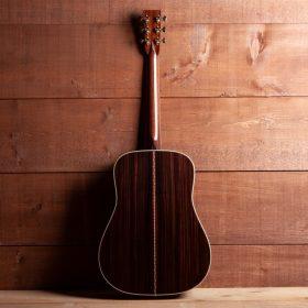 Dark Brown Guitar with Cherry Stripes